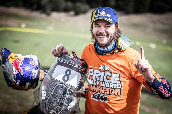 TOBY PRICE WINS RALLY WORLD CHAMPIONSHIP